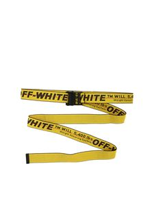 Off-White - Yellow belt with contrasting logo