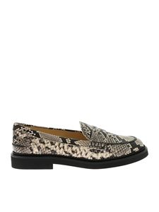 Tod's - 76B loafers with reptile print