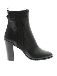 Tod's - Black ankle boots with elastic details