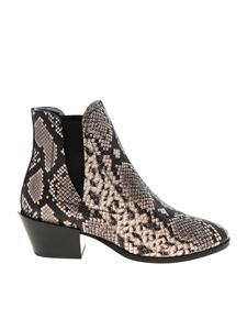 Tod's - Texan ankle boots reptile effect