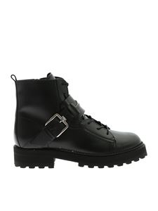 Tod's - Ankle boots in black leather with Double T logo