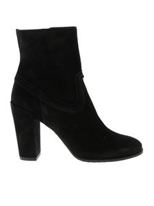 Tod's - Black suede ankle boots
