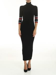 Gaelle Paris - Black dress with ribbed pattern