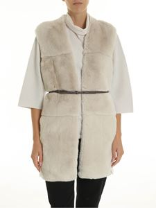 Peserico - Ivory-colored waistcoat with Lapen detail