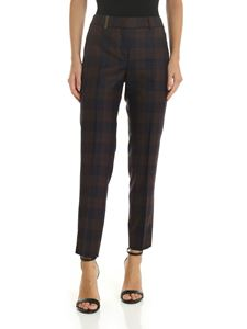 Peserico - Blue and brown checked trousers