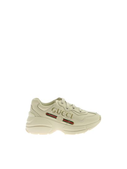 Gucci - Rhyton sneakers in ivory color