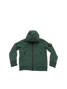 Stone Island Junior - Hooded jacket in green