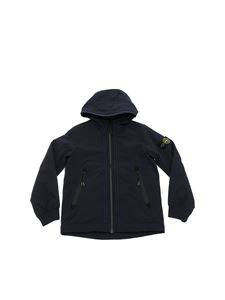 Stone Island Junior - Blue padded jacket in Primaloft