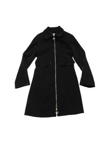 Elisabetta Franchi - Black coat with branded details