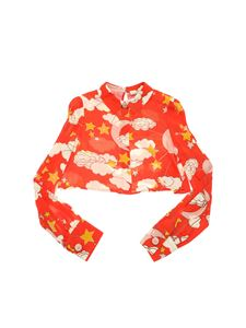 Elisabetta Franchi - Printed red crop blouse
