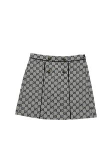 Gucci - GG fabric skirt in ivory and blue color