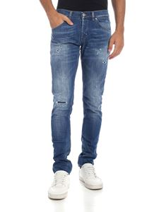Dondup - Jeans Ritchie blu effetto destroyed