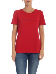 Tommy Hilfiger - T-shirt with logo in red color
