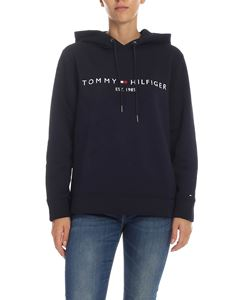 Tommy Hilfiger - Blue sweatshirt with logo embroidery