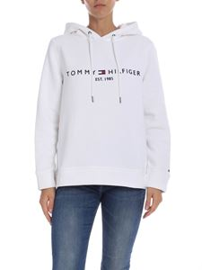Tommy Hilfiger - White sweatshirt with logo embroidery