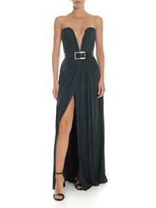 Elisabetta Franchi - Curled dark green dress