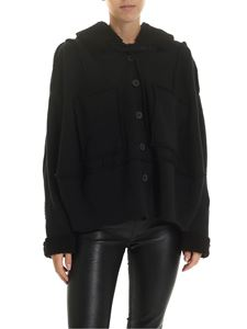 Rundholz Black Label - Black jacket with teddy details