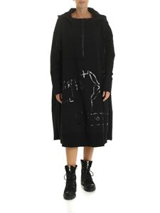 Rundholz Black Label - Black dress with hood