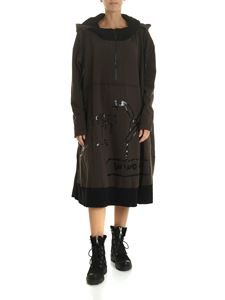 Rundholz Black Label - Army green dress with hood