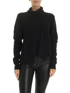 Rundholz Black Label - Black cardigan with top stitching