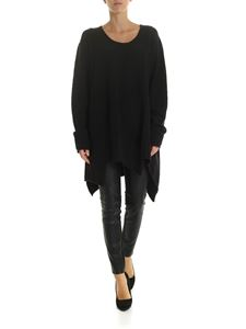 Rundholz Black Label - Black pullover with top stitching