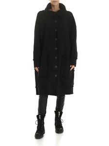 Rundholz Black Label - Black coat with teddy details