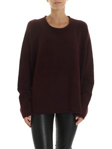 Rundholz Black Label - Wool blend pullover in wine color