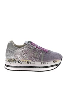 Premiata - Beth sneakers in silver and lilac