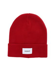 Dondup - Red beanie with logo