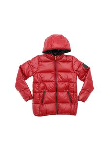 Save the duck - Luck down jacket in red and black color