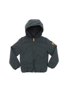 Save the duck - Matt down jacket in green and black