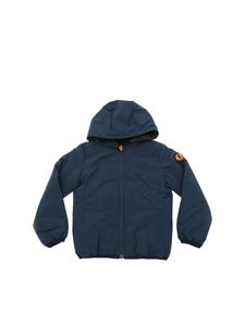 Save the duck - Matt down jacket in blue and brown color