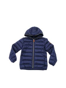 Save the duck - Iris down jacket in pearly blue