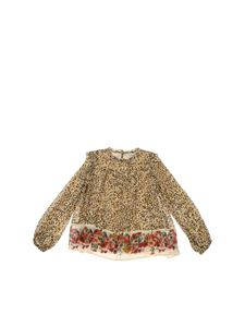 Twin-Set - Animal print blouse in beige color