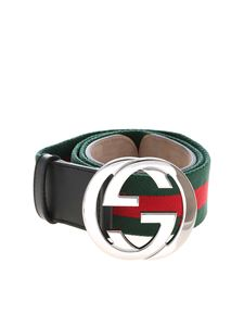 Gucci - Web belt with GG buckle