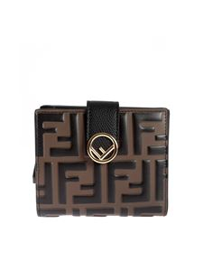 Fendi - F is Fendi wallet with brown and black FF motif