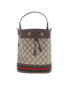 Gucci - Ophidia bucket bag in GG Supreme brown