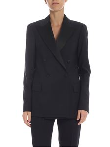 Dondup - Double-breasted jacket in black wool
