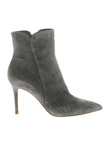 Gianvito Rossi - Levy 85 pointed ankle boots in grey