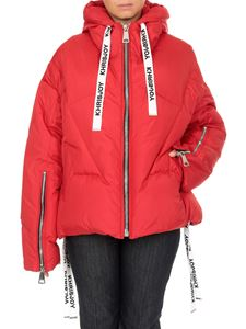 Khrisjoy - Down jacket in red with branded ribbons