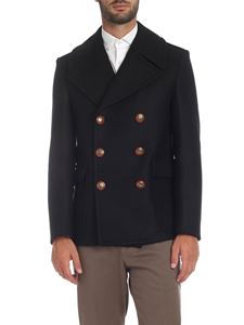 Givenchy - Black coat with logo buttons
