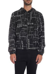 Givenchy - Black jacket with Givenchy prints