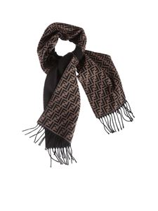 Fendi - Scarf in brown with FF motif