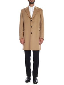 Paul Smith - Pure cashmere coat in camel color