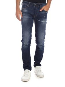 Diesel - Jeans Sleenker-X blu effetto destroyed