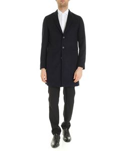 Paul Smith - Black and blue single-breasted coat