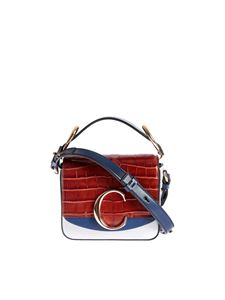 Chloé - Mini Square bag in brown, blue and white