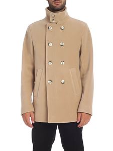 Herno - Cappotto Resort in lana vergine beige