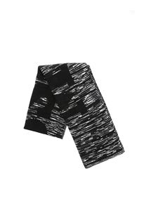 Missoni - Black scarf with grey and white pattern