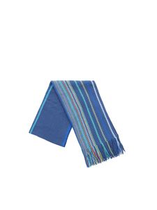 Missoni - Air Force blue scarf with chevron pattern